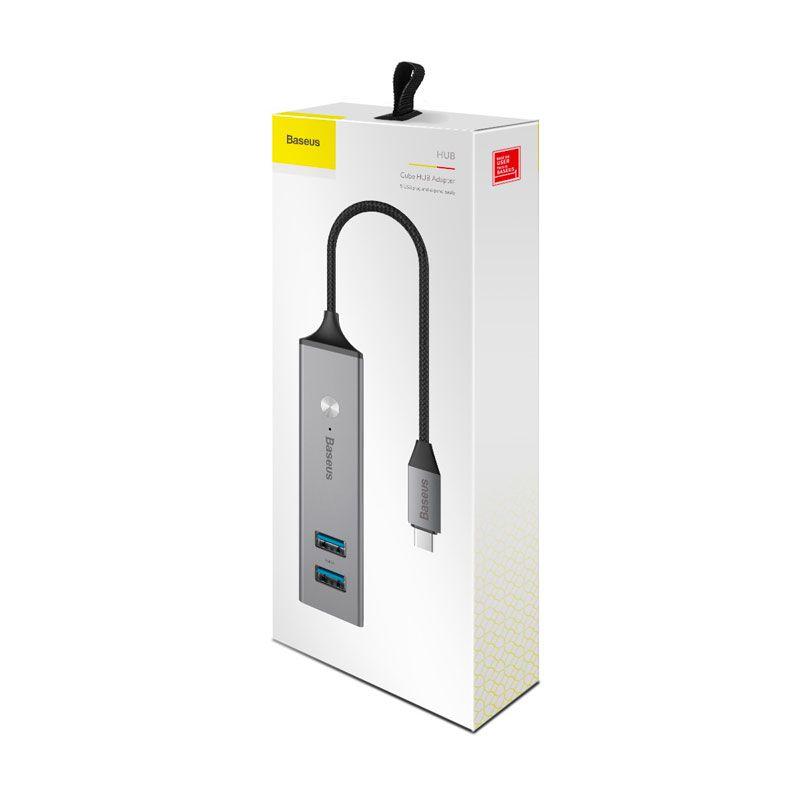 Hub Adaptador Type-C para 5x USBs Baseus Cube