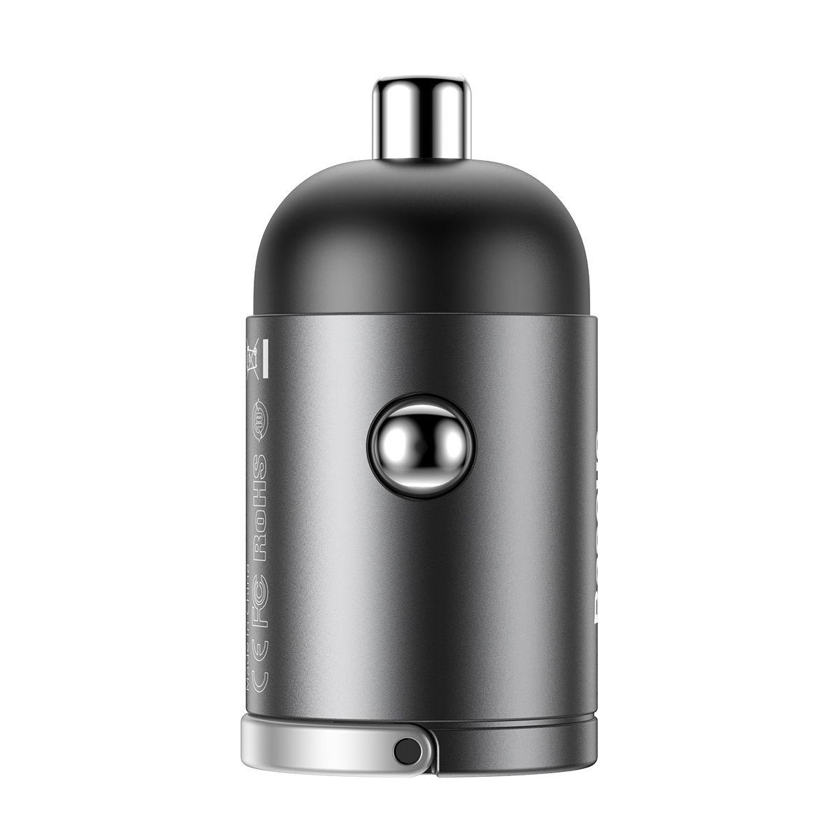 Kit Carregador Veicular Rápido Baseus Tiny Star com cabo Type-C para Lightning 18 W 1m
