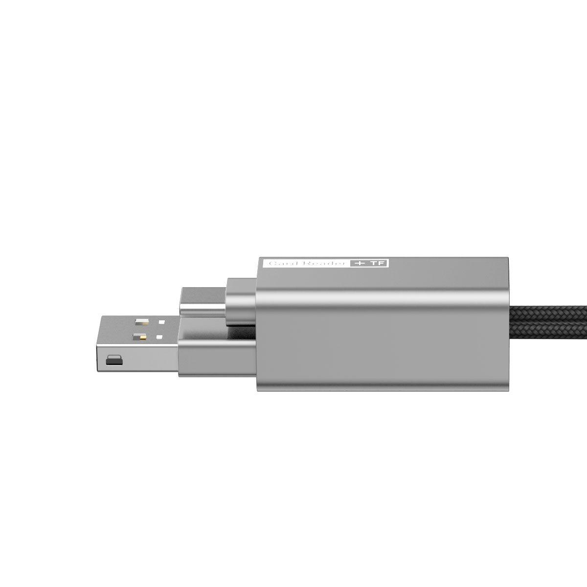 Leitor de Cartões USB + Type-C Baseus Pendant