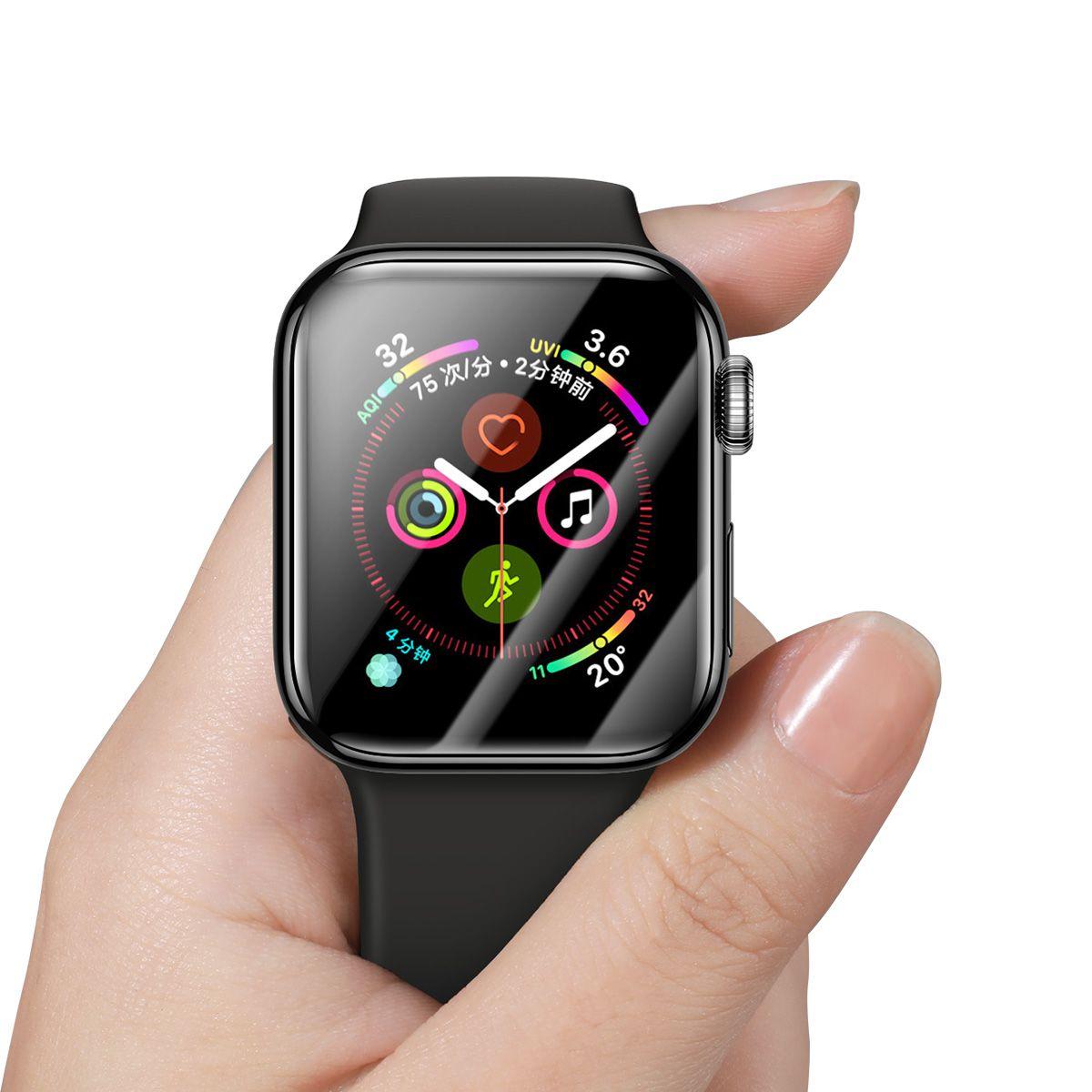 Película  de Vidro Temperado Baseus com Bordas Resistente a Quebra 40mm para Apple Watch Series 4/5