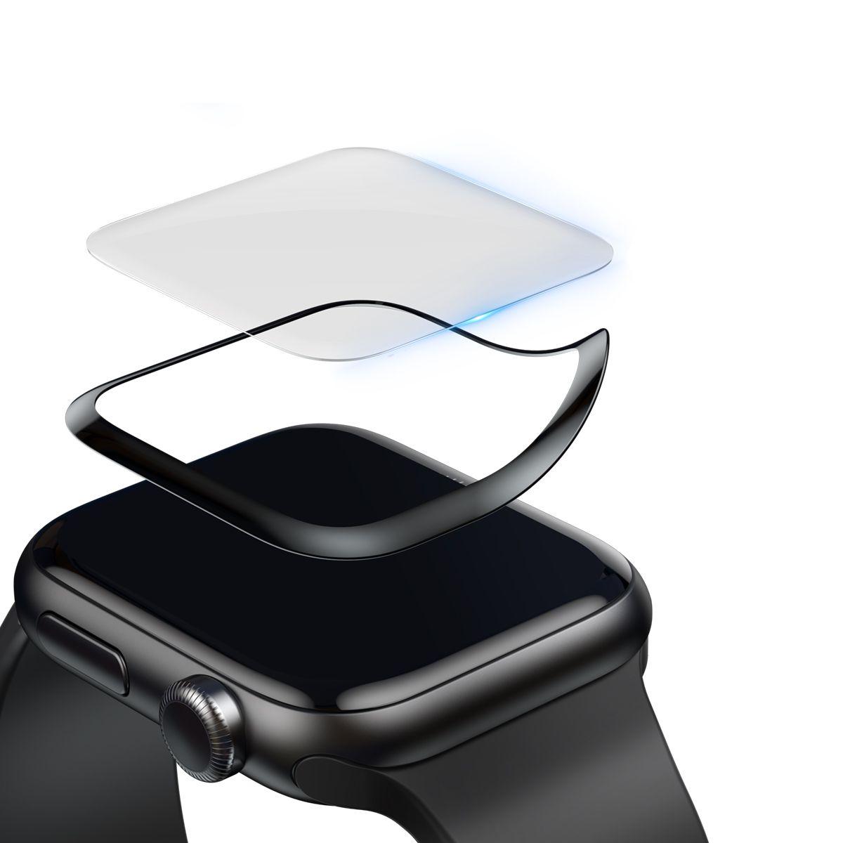 Película Protetora de Vidro Temperado Baseus com Bordas Resistente a Quebra para Apple Watch 42mm