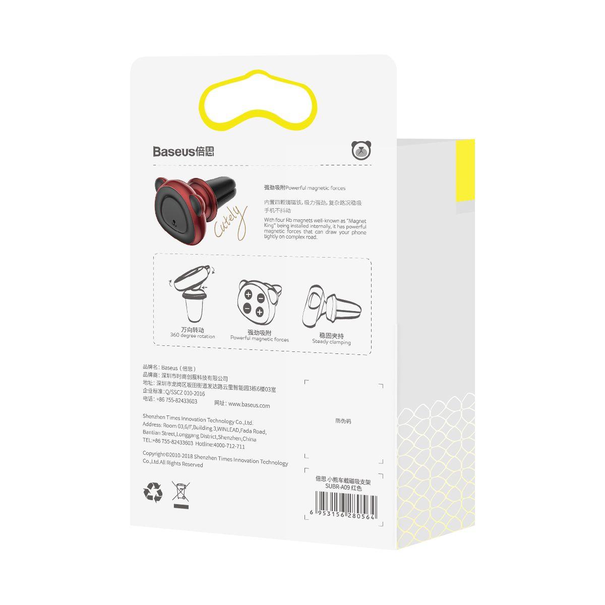 Suporte Veicular Magnético Baseus Bear para Smartphone