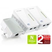 Extensor Wireless Powerline Tp-link Tl-wpa4220t Kit Triplo