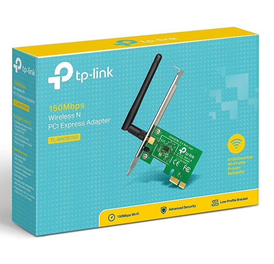 Adaptador Wireless Pci Express Tp-link Tl-wn781nd 150mbps V3