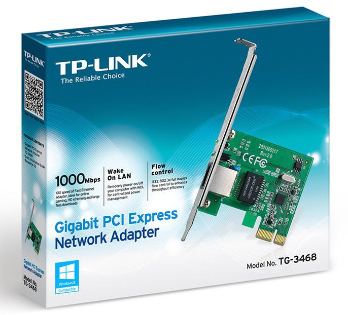 Placa PCI Express Gigabit 10/100/1000 Mbps Tp-link Tg-3468