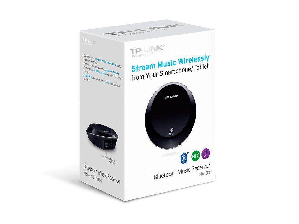 Receptor De Áudio Bluetooth Music Receiver Tp-link Ha100 V1