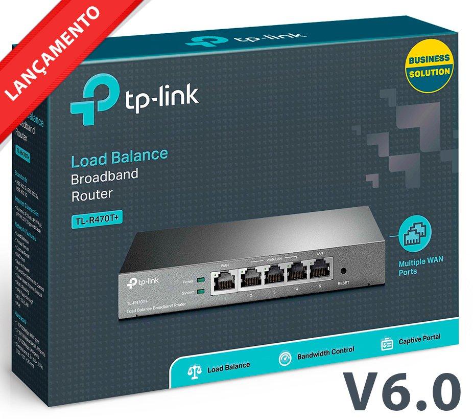 Roteador Tp-link Tl-r470t+ 4 Wan + Load Balance 4 Links V6.0