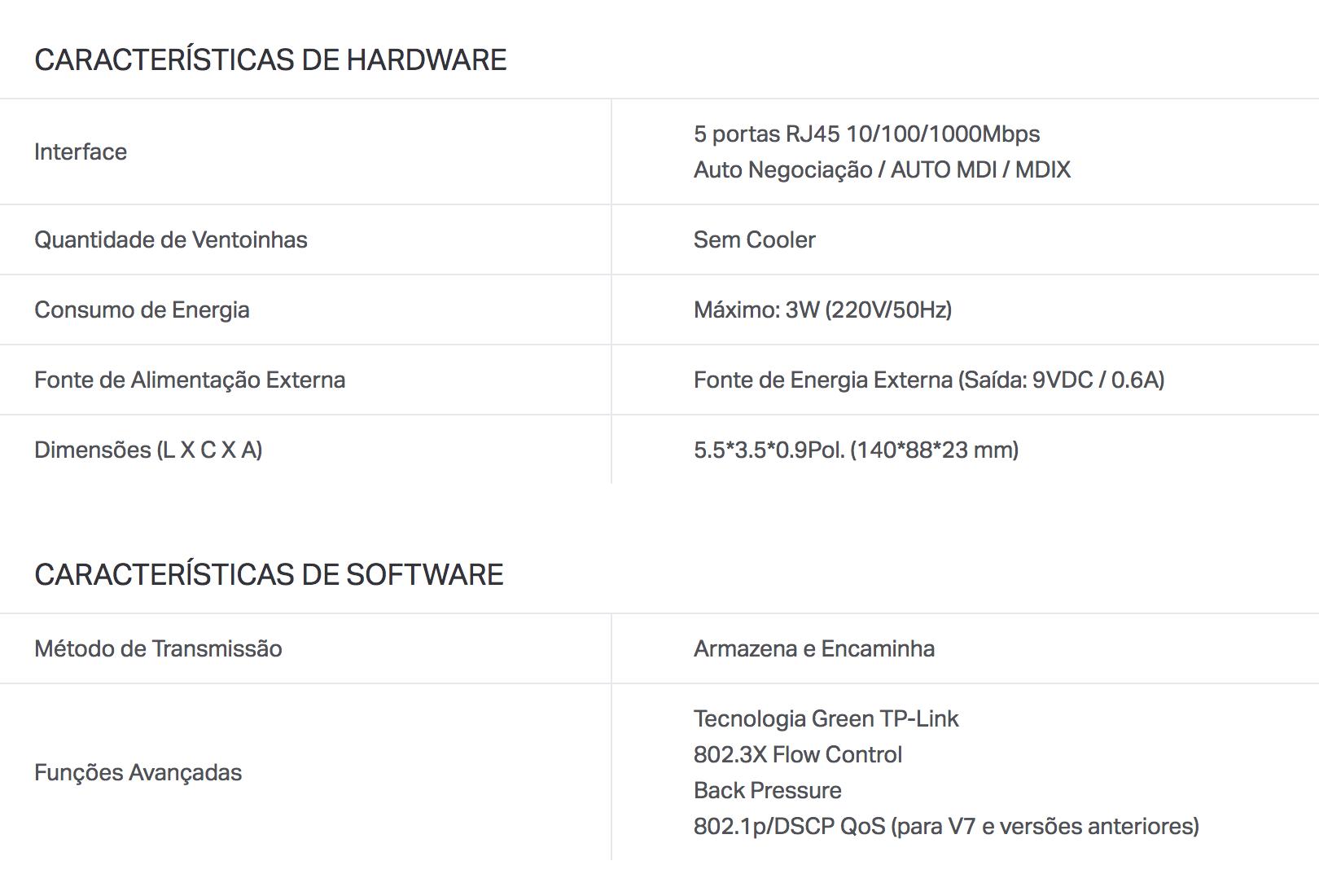 Switch 5 Portas 10/100/1000mpbs Gigabit Tp-link Tl-sg1005d