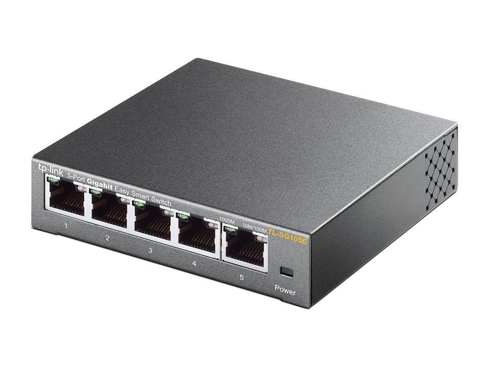 Switch Mesa 5 Portas Giga 10/100/1000mbps Tp-link Tl-sg105e V3.0