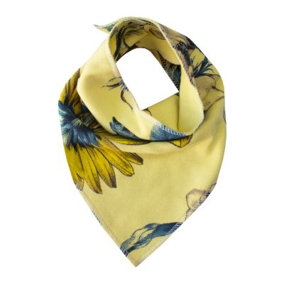 Babador bebê bandana floral - Amarelo