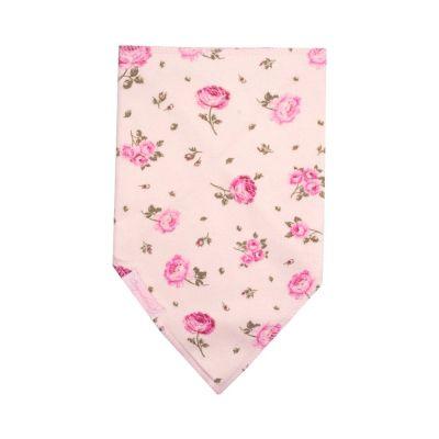 Babador bebê bandana floral - Rosa