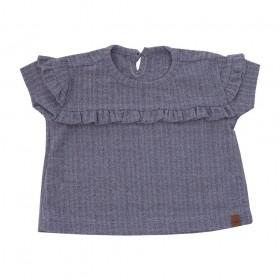 Blusa bebê babadinho - Cinza