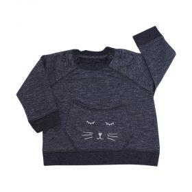 Blusa bebê cat - Preto