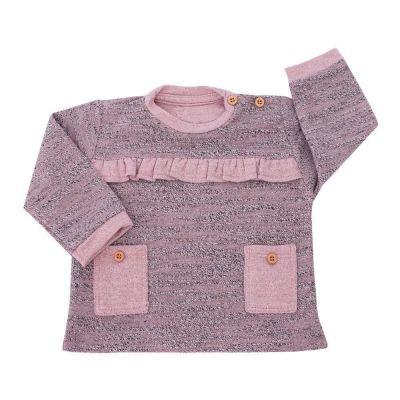 Blusa bebê com bolsinho - Rosê