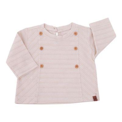 Blusa bebê com botões - Marfim