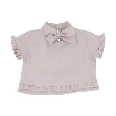 Blusa bebê com laço - Bege