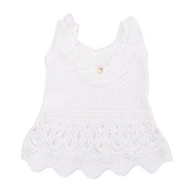Blusa bebê em linha - Branco