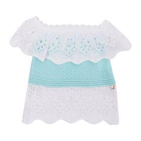 Blusa bebê linha - Verde água