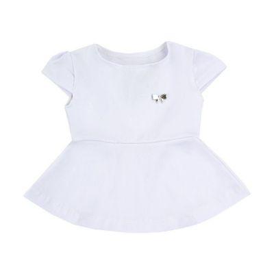 Blusa peplum bebê - Branco