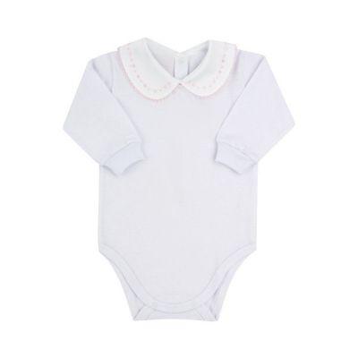 Body bebê bordado - Branco