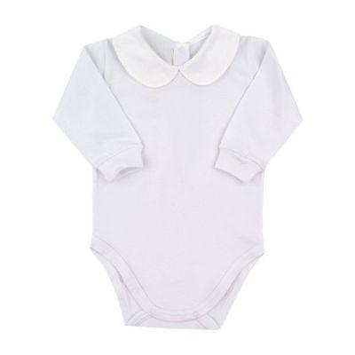 Body bebê bordado feminino - Branco