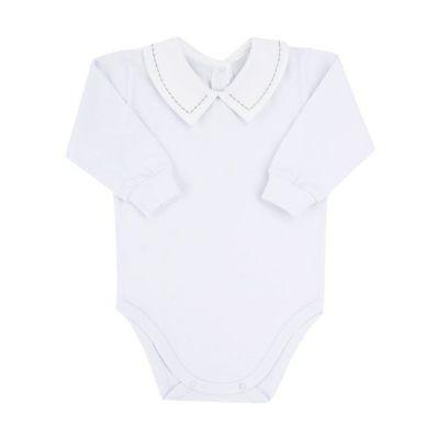 Body bebê - Branco e cinza