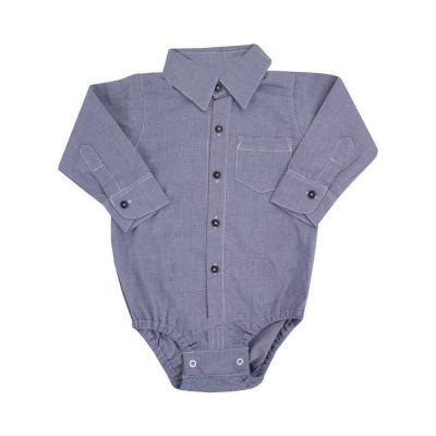 Body bebê camisa - Azul marinho