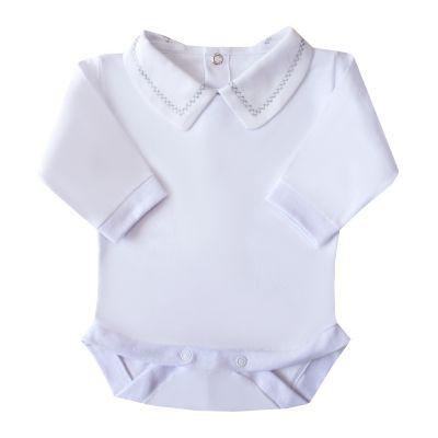 Body bebê corrente x pp - Branco e cinza