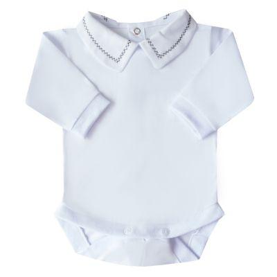 Body bebê corrente x pp - Branco e grafite