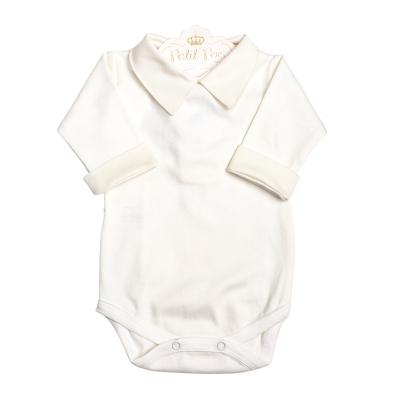Body bebê gola e punhos  - Natural