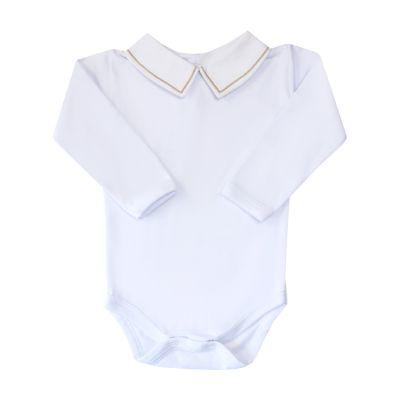 Body bebê linha - Branco e rolex
