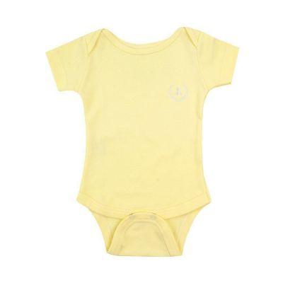 Body bebê manga curta - Amarelo