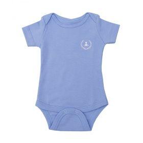Body bebê manga curta - Azul