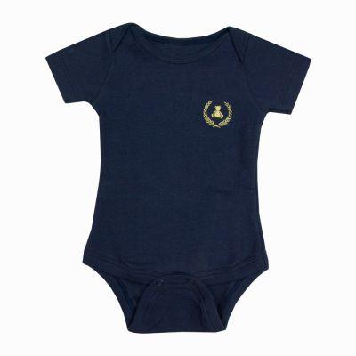 Body bebê manga curta - Azul naval