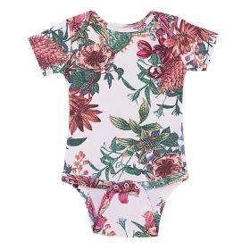 Body bebê manga curta - Floral