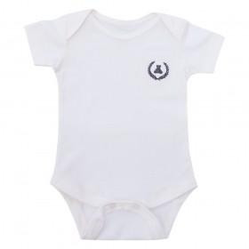 Body bebê manga curta - Off white