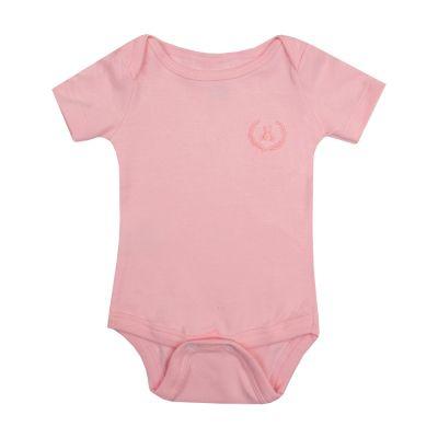 Body bebê manga curta - Rosa