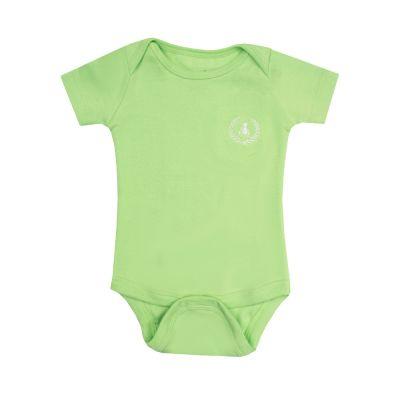 Body bebê manga curta - Verde claro
