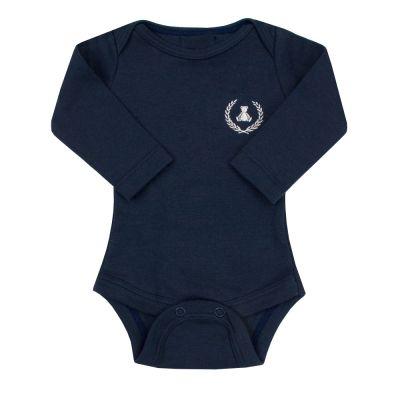 Body bebê manga longa - Azul marinho