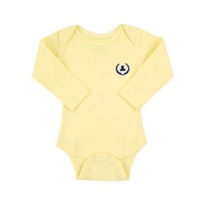 Body bebê manga longa -Amarelo