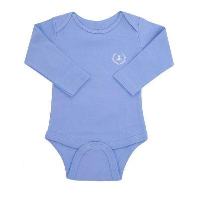 Body bebê manga longa -Azul