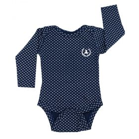 Body bebê manga longa -Azul marinho