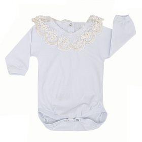 Body bebê manga longa com pérolas - Branco