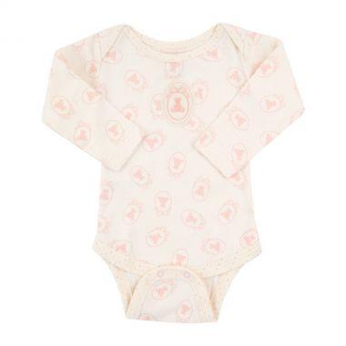 Body bebê manga longa - Marfim