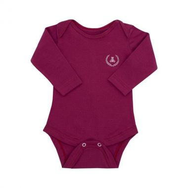 Body bebê manga longa - Marsala