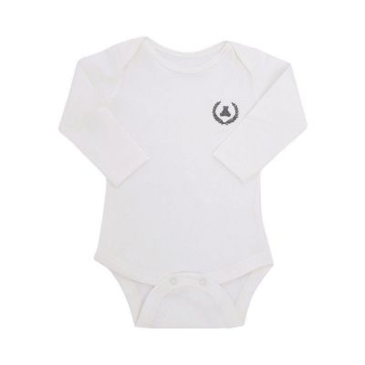 Body bebê manga longa - Off white