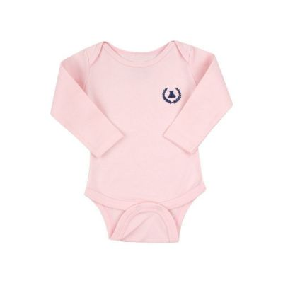 Body bebê manga longa - Rosa bebê