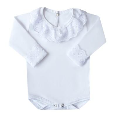 Body bebê pérola - Branco