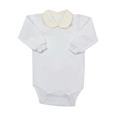 Body bebê poás - Off white