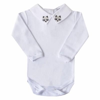 Body bebê raposa - Branco